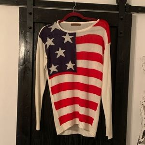 The Classic American Flag Sweater - Large